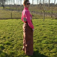 Outfit of the week: Fuchsia and brown