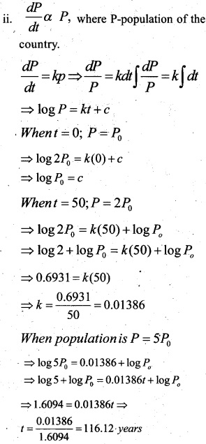 Plus Two Maths Chapter Wise Questions and Answers Chapter 9 Differential Equations 57