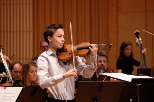 Johan Dalene spelade Barbers violinkonsert hösten 2018