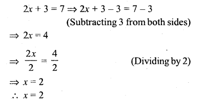 Selina Concise Mathematics Class 6 ICSE Solutions - Simple (Linear) Equations (Including Word Problems) - r1