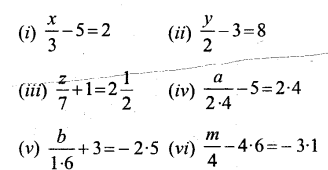 Selina Concise Mathematics Class 6 ICSE Solutions - Simple (Linear) Equations (Including Word Problems) - b2