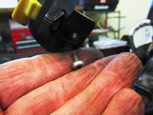 Handlebar Combination Switch Hardware Detail