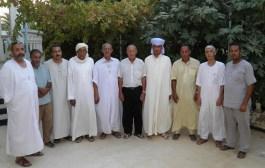 والد المرحوم  الدكتور سرحان قروي في زيارة للمؤسسة