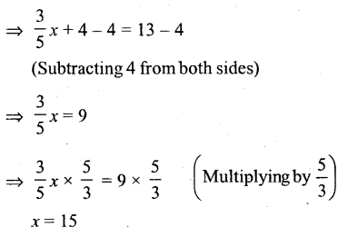 Selina Concise Mathematics Class 6 ICSE Solutions - Simple (Linear) Equations (Including Word Problems) - r8s