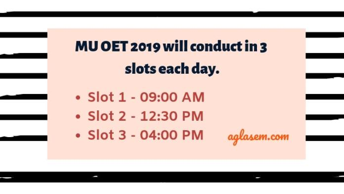 MU OET (MET) 2019 Slot Booking Starts From 04 April