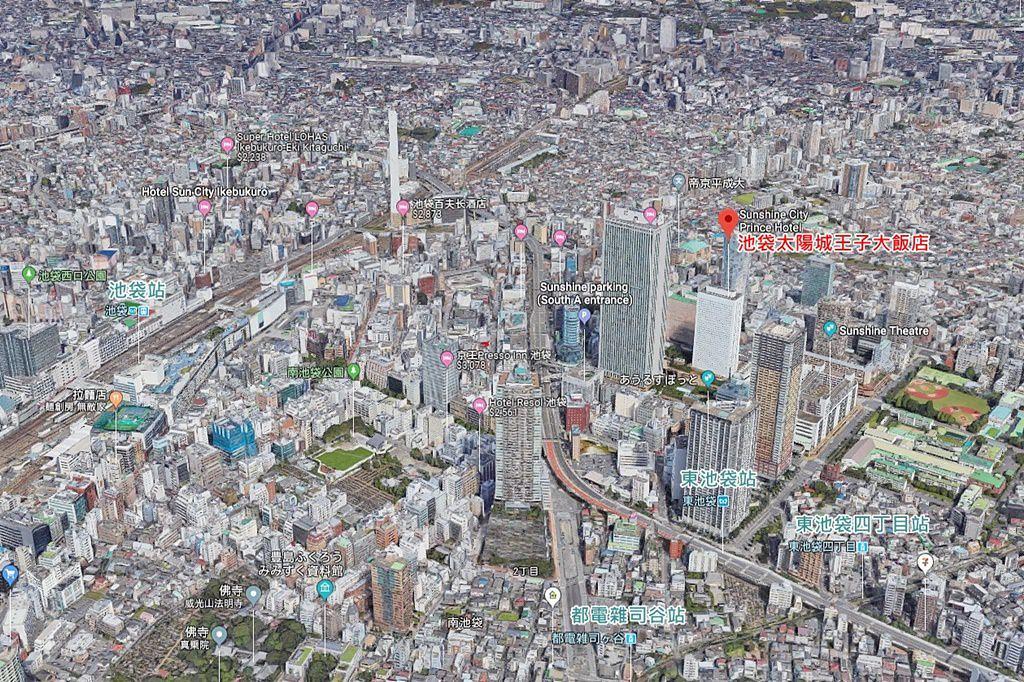 Sunshine City Prince Hotel Ikebukuro Tokyo Map