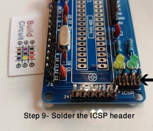 Step 9- Solder the ICSP header