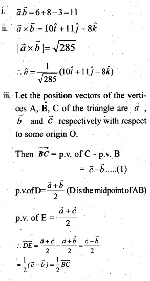 Plus Two Maths Chapter Wise Questions and Answers Chapter 10 Vector Algebra 31