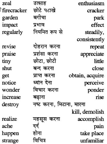 RBSE Solutions for Class 5 English Vocabulary Synonyms or Similar Words 3