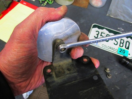Removing Rear Reflector From License Plate Bracket