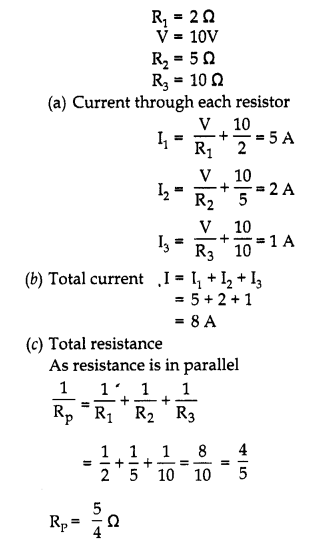 RBSE Solutions for Class 10 Science Chapter 10 Electricity Current AS Q13a