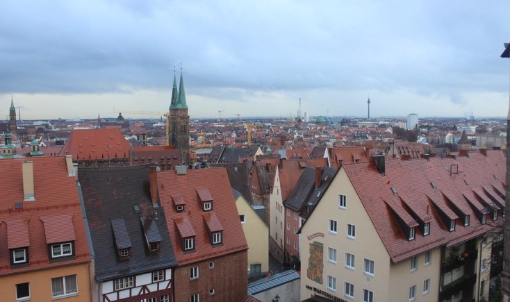 View of the city from Nuremberg castle, Germany