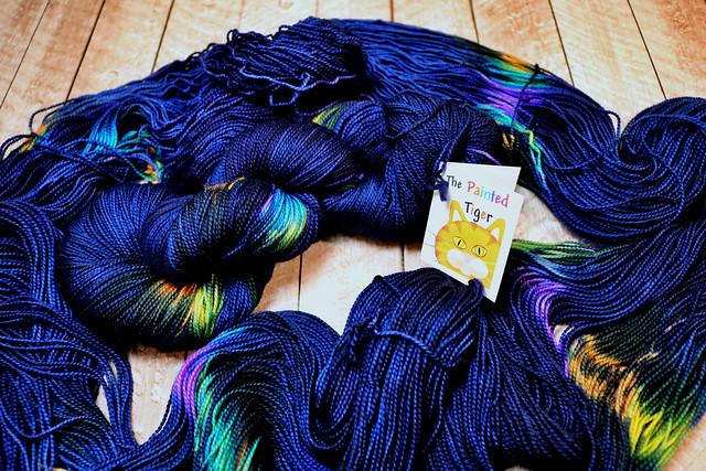 Crazy Paisley Titanium Tiger Twist - February 2019 Tiger Sock Knitting Club