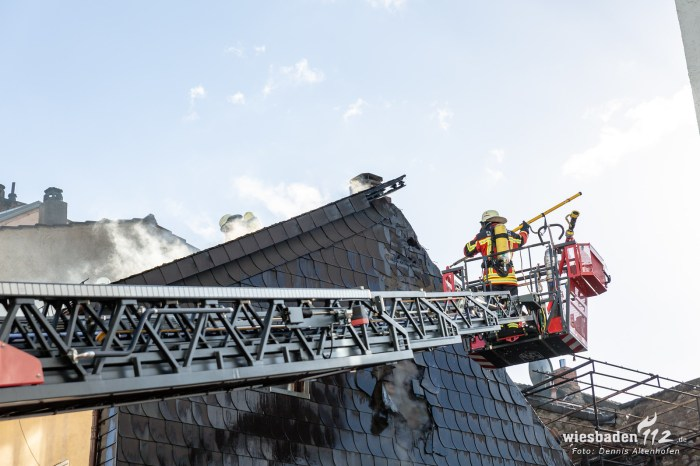 Dachstuhlbrand in Bingen 11.03.19