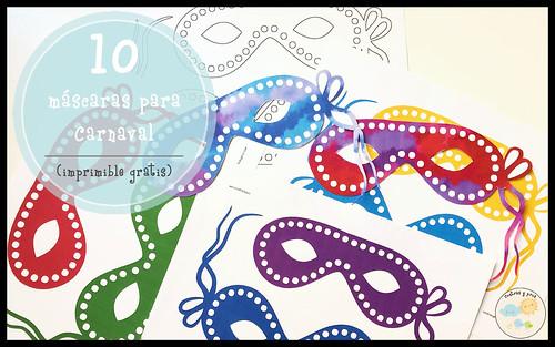 Máscaras para Carnaval gratis