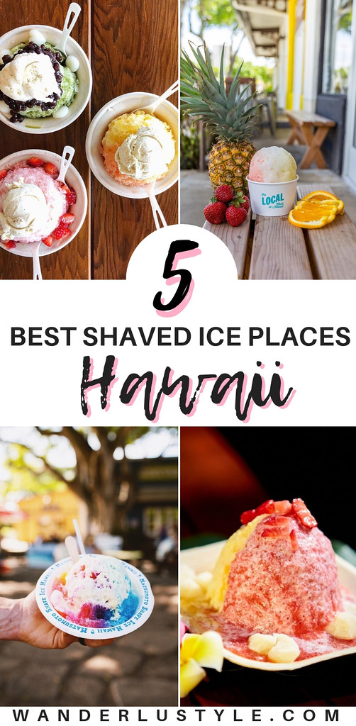 Best 5 Shaved Ice Places in Oahu, Hawaii - Hawaii Shave Ice, Oahu Shave Ice, Shave Ice | Wanderlustyle.com