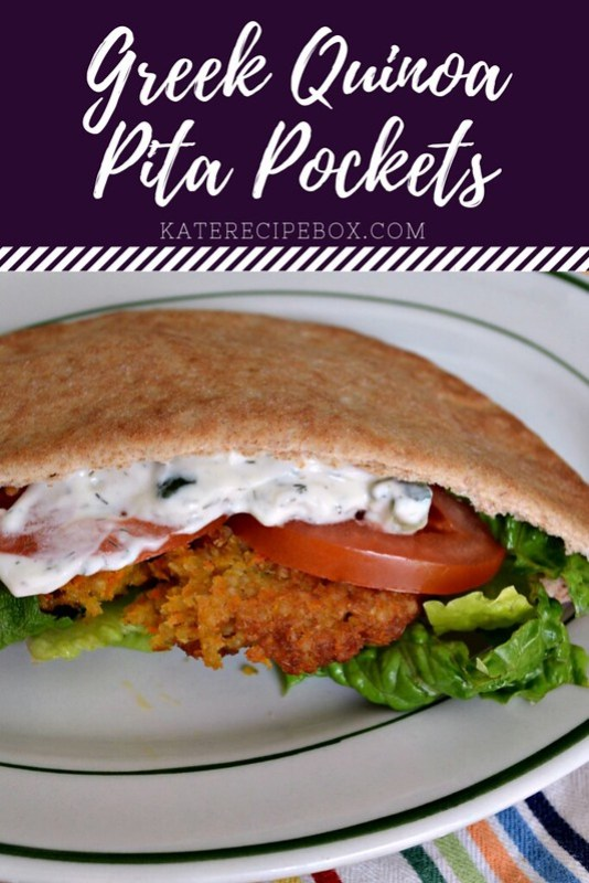 Greek Quinoa Pita Pockets