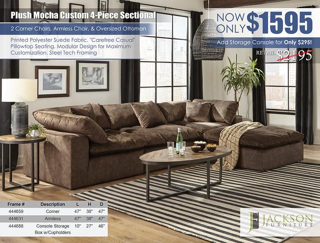 Plush Mocha Custom Sectional Jackson Furniture_4446_ju1608