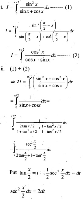 Plus Two Maths Chapter Wise Questions and Answers Chapter 7 Integrals 58