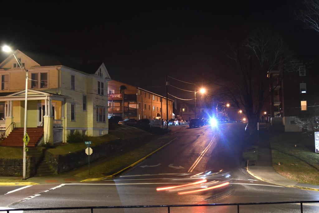 Tyler Street at night