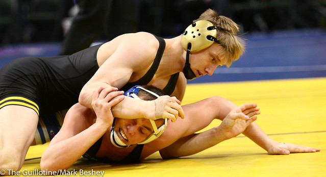 152 - Quarterfinal - Dylan Anderson (Apple Valley) 38-14 won by decision over Tate Torgerson (Cambridge-Isanti) 39-10 (Dec 5-4) - 190301amk0027