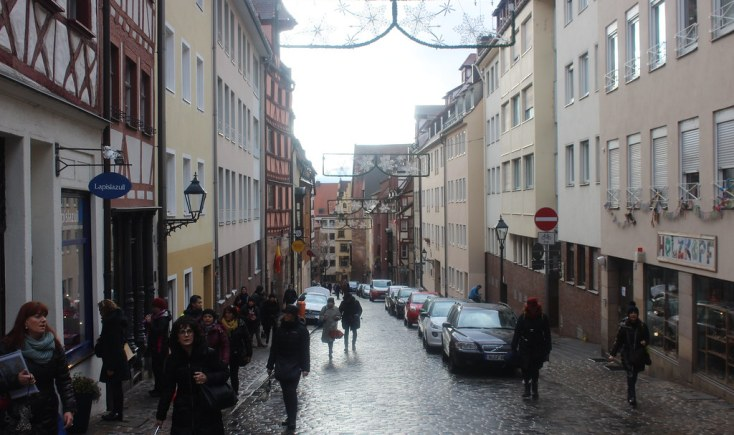 On the streets of Nuremberg, Germany