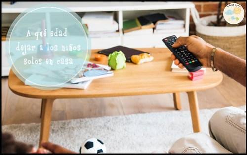 Dejar a los niños solos en casa