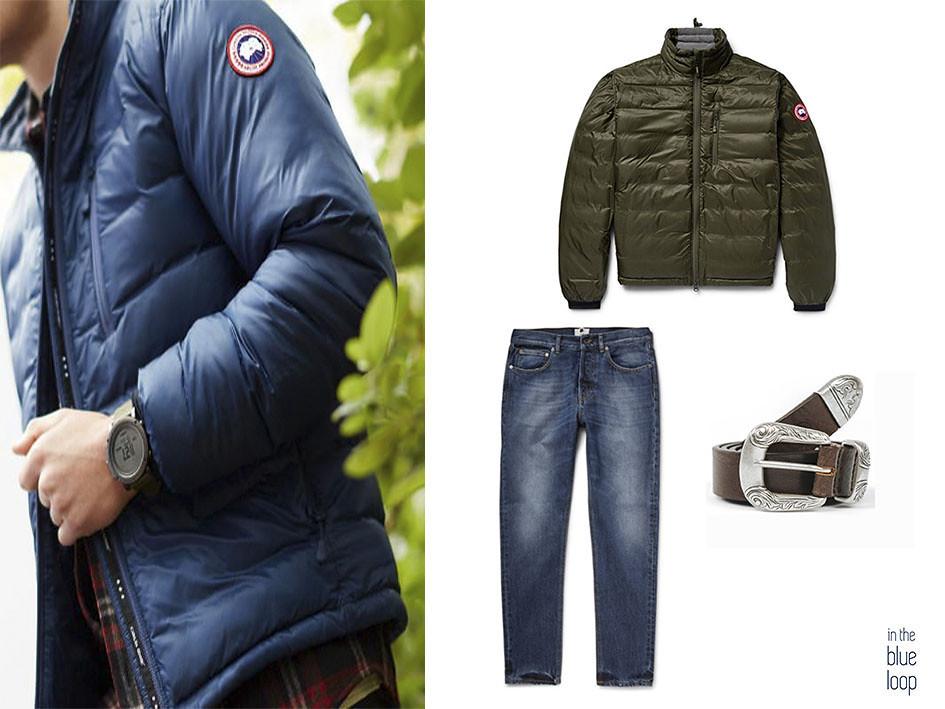 Look casual con plumas, vaqueros o jeans y cinturón Uga de blue hole