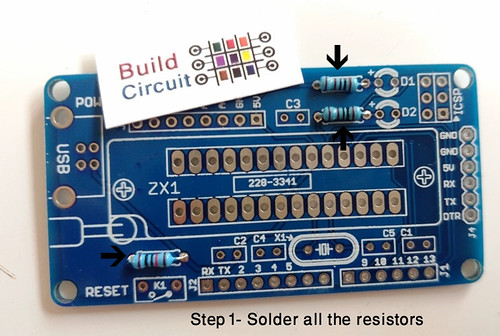 Step 1- Solder all the resistors