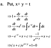 Plus Two Maths Chapter Wise Questions and Answers Chapter 9 Differential Equations 40