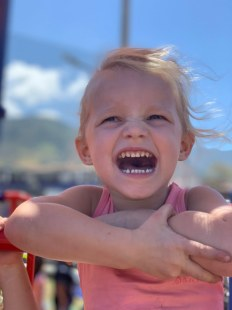 Isa having fun at the playground in San Jose