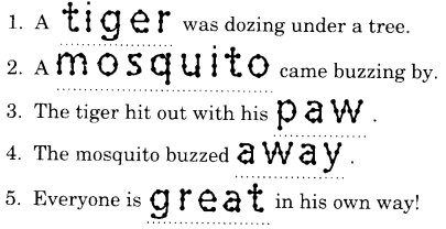 NCERT Solutions for Class 1 English Chapter 17 The Tiger and the Mosquito 77