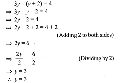 Selina Concise Mathematics Class 6 ICSE Solutions - Simple (Linear) Equations (Including Word Problems) - r26