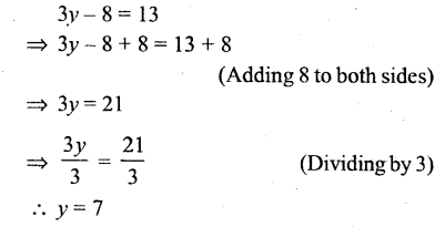 Selina Concise Mathematics Class 6 ICSE Solutions - Simple (Linear) Equations (Including Word Problems) - r4