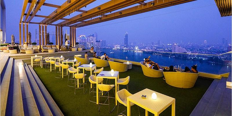 泰國曼谷高空酒吧 |Attitude Rooftop Bar-氛圍佳、景色美,可以俯瞰昭披耶河無敵景色的高空酒吧。