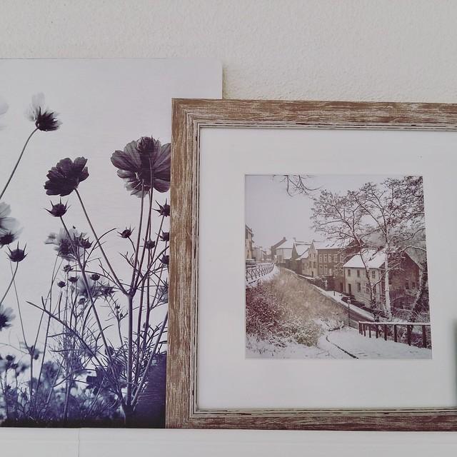 Schilderij foto dorpje