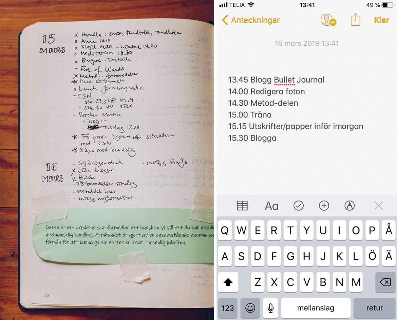 Bullet Journal planera dagen med time boxing - reaktionista.se