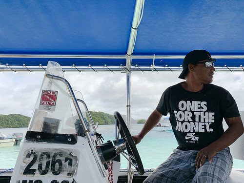 Our captain of snorkeling crew in Palau
