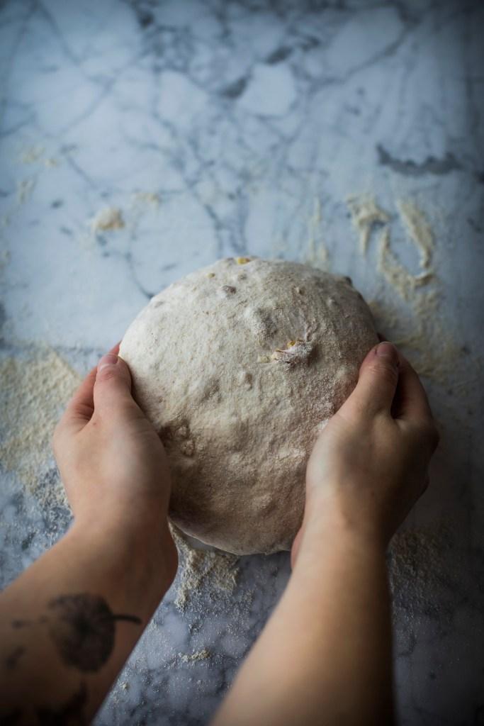Pane di solina alle noci - preparazione