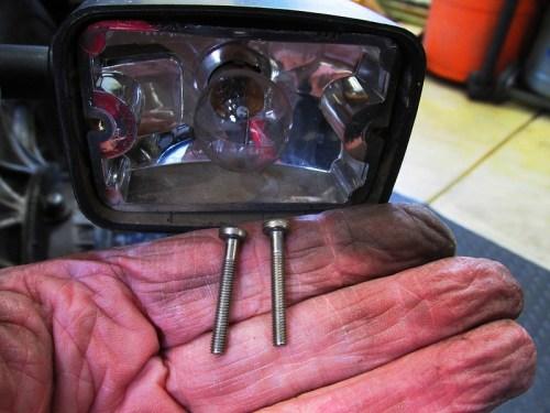 Rear Turn Signal Housing Hardware Detail