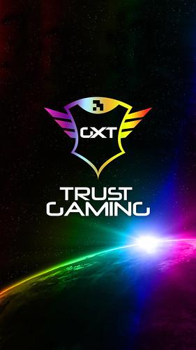 Trust Gaming Smartphone Wallpaper - Logo Space RGB
