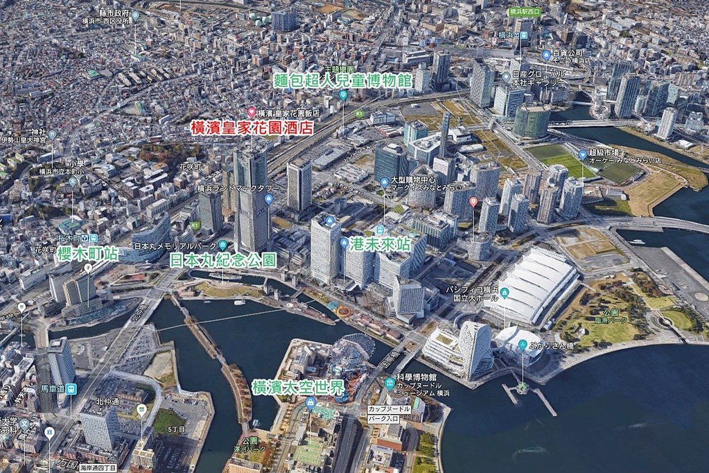Yokohama Royal Park Hotel Map