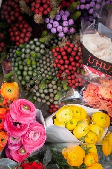 Hong Kong Family Travel Flowers at Graham St Market