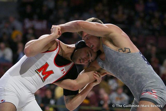 174: #12 Devin Skatzka (Minnesota) tech fall Josh Ugalde (Maryland) 17-2, 7:00. 190210BMK0077