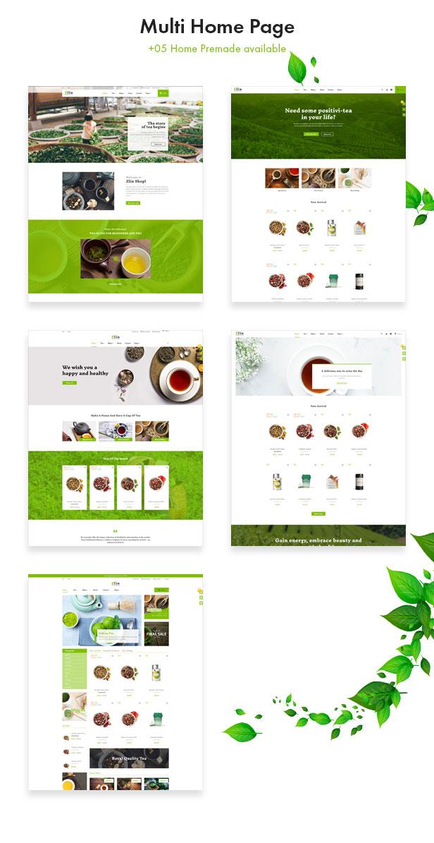 Leo Zlin - best prestashop tea shop theme - 05+ premade tea shop homepages