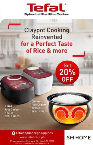 Tefal Spherical Pot Rice Cookers 20Percent Off
