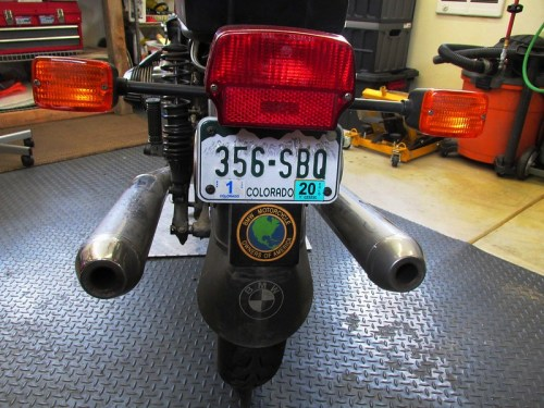 Rear Tail Light, & Turn Signal Assembly, License Plate Bracket & Rubber Mud Flap