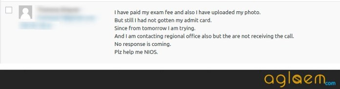 Difficulties in Downloading NIOS Hall Ticket 2019