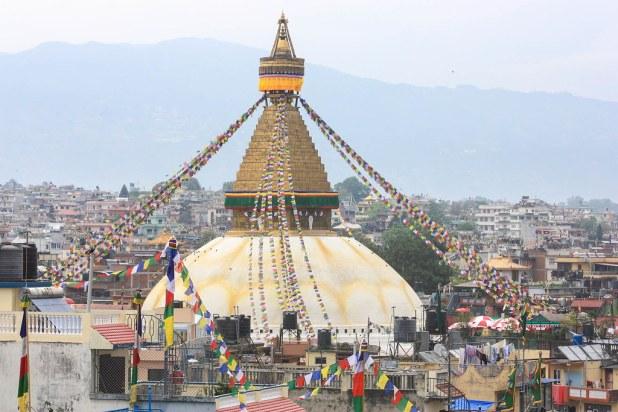 Vista de la estupa de Boudhanath