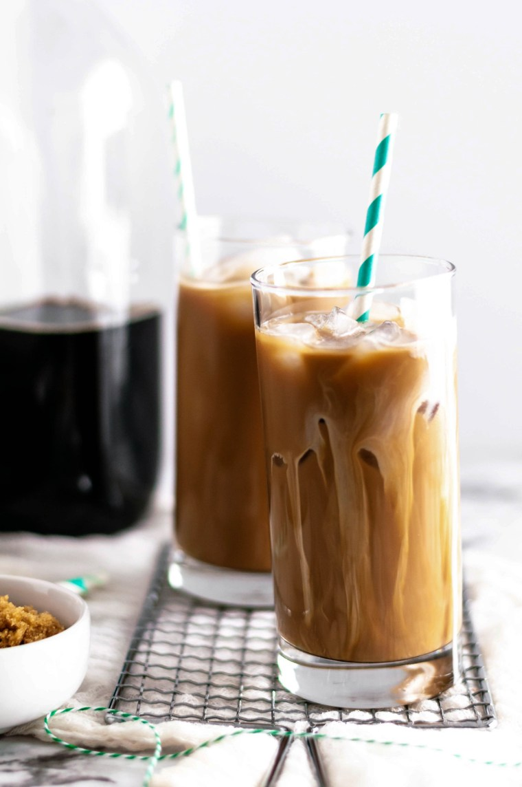 Meet your new morning favorite. Iced Irish Coffee includes a simple homemade (non-alcoholic) Irish creamer, cold brew coffee and a little brown sugar.